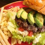 AVOCADO BURGER (w/French fries) - アボカドバーガー - (テイクアウトO.K!)