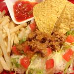 TACO-RICE (w/French fries) - タコライス -(テイクアウトO.K!)
