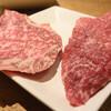 立喰い焼肉 おやびん - 料理写真:左から天下一・シキンボ