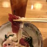 124834007 - まぐろ山かけ680円(税込み)。しっかりと粘りのある山芋と、赤身マグロがマッチして、とても美味しかったです(╹◡╹)