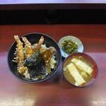 天久 - 天丼+味噌汁