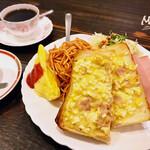 カフェドムッシュ - モーニングセット パシャ(エッグトースト)