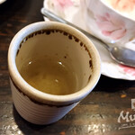 カフェドムッシュ - モーニングセット 食後の梅昆布茶