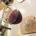 124840938 - 1杯のワイン。(国産の甲州ワインなので、スッキリ軽やか。)