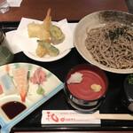 庄屋 - 料理写真:天ざるそばセット=1078円 税込