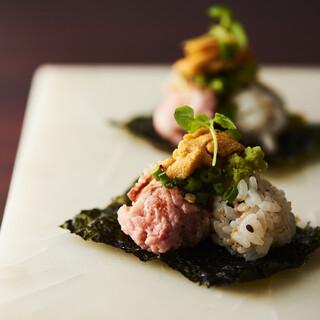 <鴨のネギトロ寿司>