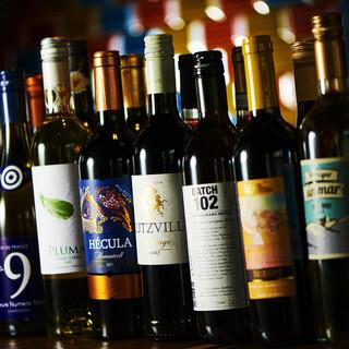 ボトルワイン19種時間無制限飲み放題