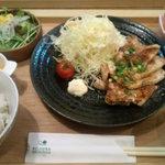 ロヂウラ食堂 - 生姜焼き定食