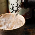 串かつ・炭火焼鳥・鶏ちゃんこ鍋 TSURUGI - 焼酎