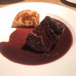 ラ キュイジーヌ ド カワムラ - ○牛頬肉のワイン煮込み&蕪様