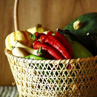 自然農法で栽培したお野菜
