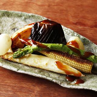 旬のお野菜を使用した焼野菜