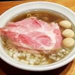 木更津 丿貫 - 煮干し蕎麦 肉とうずらをトッピング