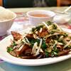 上海港 - 料理写真:ニラレバー炒め定食@税込800円