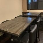 海鮮みらい - テーブル席