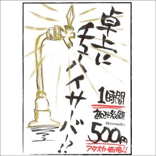 《超目玉》レモンチューハイ500円で60分飲み放題!!!!