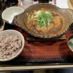 124887788 - チキン味噌かつ煮定食【2020.1】