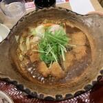 124887793 - チキン味噌かつ煮定食【2020.1】