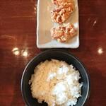 124888479 - 白飯+唐揚げセット