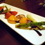 12489178 - 「焼き野菜サラダ」980円
