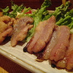 トリス酒場 - 豚バラと鶏ももの味噌粕漬焼