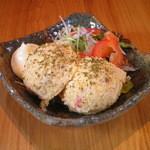 こうざん - 「ぽてとさらだ」北海道産のじゃがいも、スモークチキンとチーズの入ったこだわりの逸品。一押し!