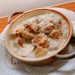 ブルッティ エ ブォーニ - キク芋とゴルゴンゾーラのグラタン