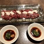 居酒屋おふろ - 馬刺しにら醤油(1600円)