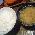 とんかつ ブウ亭 - 豚汁&御飯