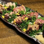 124909160 - ◆肉刺し極み八種盛り 2,980円(税別)