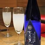 124909228 - ◆水芭蕉 純米吟醸 雪ほたか スパークリング(ワイングラス) 780円(税別)