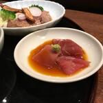 赤坂 多に川 - 鮪の黄身醤油