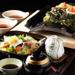 割烹旅館 寿美礼 - 料理写真:瓦そばと丼のセット