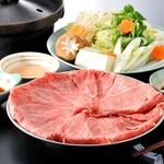和牛懐石 彩々亭 - 料理写真:黒毛和牛しゃぶしゃぶ