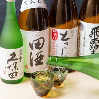 全国の地酒、旬の日本酒を取り揃えております。