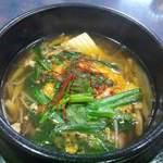 片桐 - 2012.4 チゲ小鍋定食のチゲ鍋