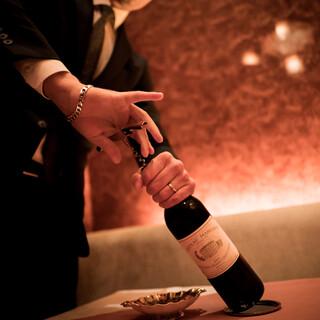 飲み頃のボルドー五大シャトーがグラスでもご堪能いただけます。