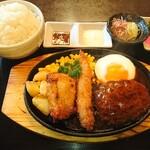 クッキングフォレスト - ミックスグリル定食(並盛)