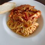 カフェ ブロッケン - 渡り蟹のトマトソースパスタ