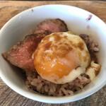 さかいキッチン - 常陸牛ミニローストビーフ丼