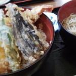 丸福 - 丸福の天丼子そば1030円(12.03)
