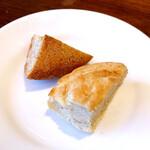 Maison Michel - 【パン】             全粒粉の田舎風パンとフォカッチャ。