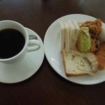 シャポーブラン - ブレンド珈琲とパン