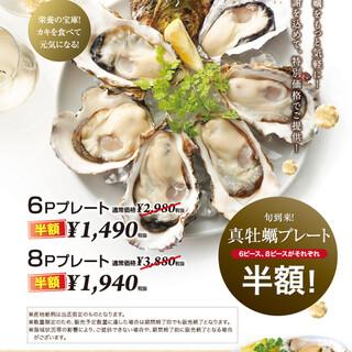 2/7(金)~2/24(月)生牡蠣終日全品半額‼