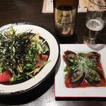 恵比寿餃子 大豊記 - チョレギサラダとピータンと熟撰。