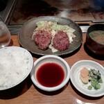 ステーキ石田 - ハンバーグ定食