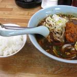くるまやラーメン  - 料理写真:雷タンタン麺+半ライス