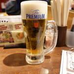 立呑み 魚椿 - 生ビール(450円)