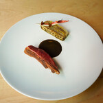 B - 料理写真:尾長鴨のロティ アンディーヴのミルフィーユ仕立て