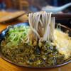 長住うどん - 料理写真:辛子タカナそば420円+卵とじ120円。